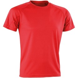 textil Camisetas manga corta Spiro Aircool Rojo