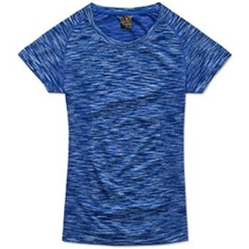 textil Mujer Camisetas manga corta Stedman Seamless Azul King Jaspeado