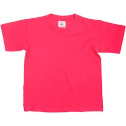 textil Niños Camisetas manga corta B And C Exact Fucsia