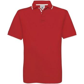 textil Hombre Polos manga corta B And C BA351 Rojo/Blanco