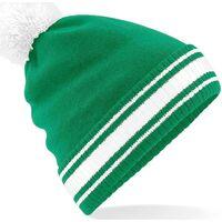 Accesorios textil Hombre Gorro Beechfield B472 Verde Kelly/Blanco