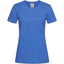textil Mujer Camisetas manga corta Stedman  Azul Real