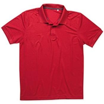 textil Hombre Polos manga corta Stedman  Rojo Pimiento