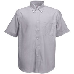 textil Hombre Camisas manga corta Fruit Of The Loom 65112 Gris Oxford