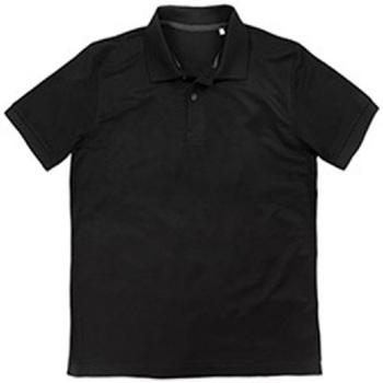 textil Hombre Polos manga corta Stedman  Negro Ópalo