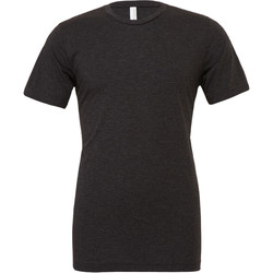 textil Hombre Camisetas manga corta Bella + Canvas CA3413 Negro Carbón Jaspeado