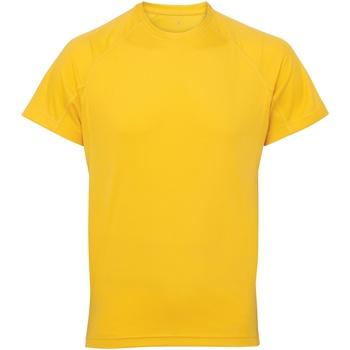 textil Hombre Camisetas manga corta Tridri TR011 Amarillo Sol