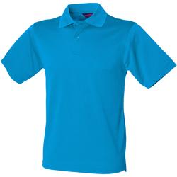 textil Hombre Polos manga corta Henbury HB475 Azul zafiro