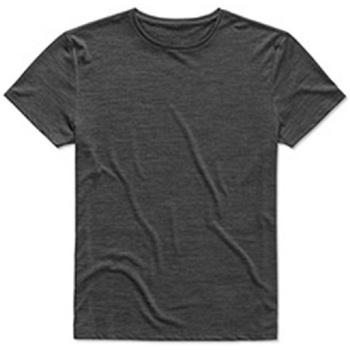 textil Hombre Camisetas manga corta Stedman  Antracita Jaspeado