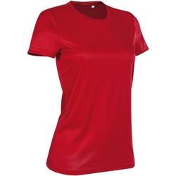 textil Mujer Camisetas manga corta Stedman  Rojo pasión