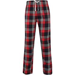 textil Hombre Pijama Skinni Fit SFM83 Cuadros Rojos/Marinos