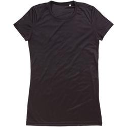textil Mujer Camisetas manga corta Stedman  Negro ópalo