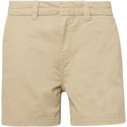 textil Mujer Shorts / Bermudas Asquith & Fox AQ061 Caqui