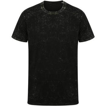 textil Camisetas manga corta Skinni Fit SF203 Negro Desgastado