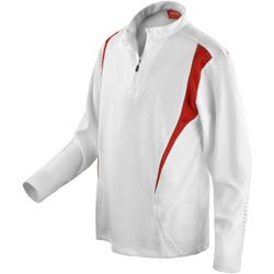 textil Mujer Chaquetas de deporte Spiro S178X Blanco/rojo/blanco