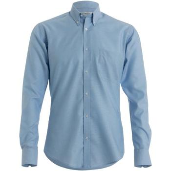 textil Hombre Camisas manga larga Kustom Kit KK139 Azul Claro