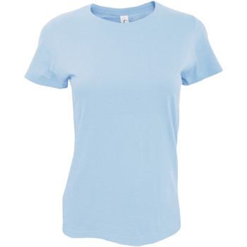 textil Mujer Camisetas manga corta Sols 11502 Azul Cielo