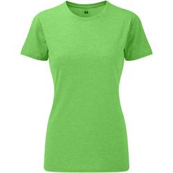 textil Mujer Camisetas manga corta Russell 165F Verde Jaspeado
