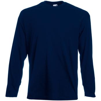 textil Hombre Camisetas manga larga Universal Textiles 61038 Azul Medianoche