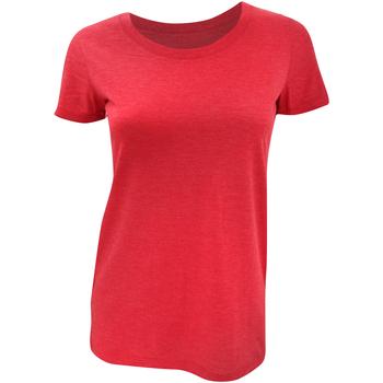 textil Mujer Camisetas manga corta Bella + Canvas BE8413 Rojo Jaspeado