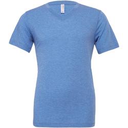 textil Hombre Camisetas manga corta Bella + Canvas CA3415 Azul Jaspeado