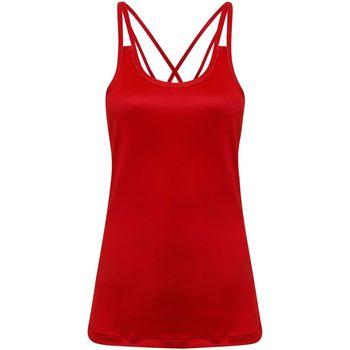 textil Mujer Camisetas sin mangas Tridri TR029 Rojo intenso