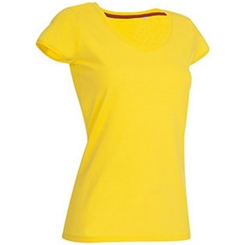 textil Mujer Camisetas manga corta Stedman Stars Megan Amarillo Daisy