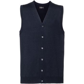 textil Hombre Chaquetas de punto Russell J719M Azul marino