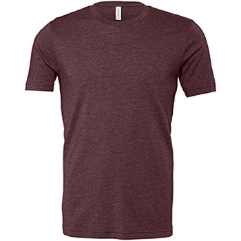 textil Hombre Camisetas manga corta Bella + Canvas CA3001 Granate Jaspeado