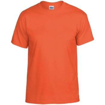 textil Hombre Camisetas manga corta Gildan DryBlend Naranja