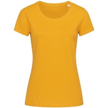 textil Mujer Camisetas manga corta Stedman Stars  Amarillo Indiano