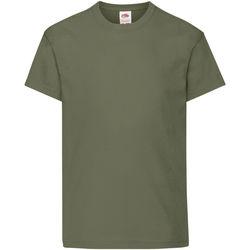 textil Niños Camisetas manga corta Fruit Of The Loom 61019 Oliva