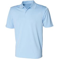 textil Hombre Polos manga corta Henbury HB475 Azul claro