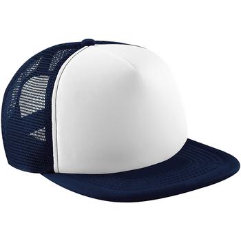 Accesorios textil Gorra Beechfield B645 Azul marino/Blanco
