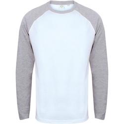 textil Hombre Camisetas manga larga Skinni Fit SF271 Blanco/Gris