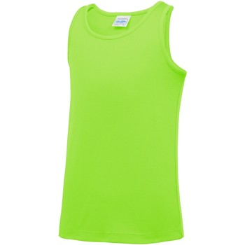 textil Niños Camisetas sin mangas Awdis JC07J Verde