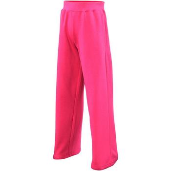 textil Niña Pantalones de chándal Awdis  Rosa chillón