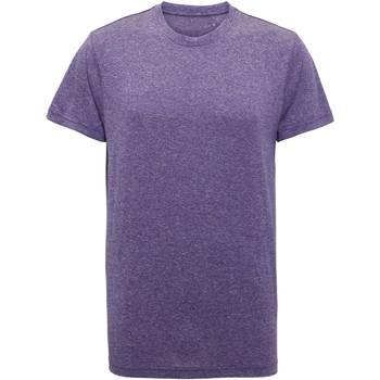textil Hombre Camisetas manga corta Tridri TR010 Púrpura Jaspeado