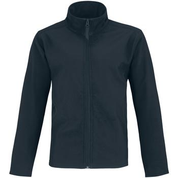 textil Hombre Chaquetas de cuero / Polipiel B And C Two Layer Azul Marino/Verde Neón