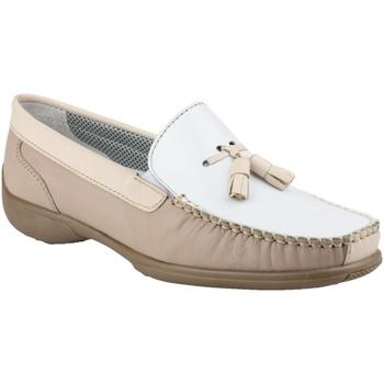 Zapatos Mujer Mocasín Cotswold BIDDLESTONE Blanco/beige/marrón
