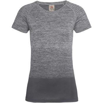 textil Mujer Camisetas manga corta Stedman  Transición Gris Claro