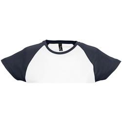 textil Mujer Camisetas manga corta Sols Milky Blanco/Marino