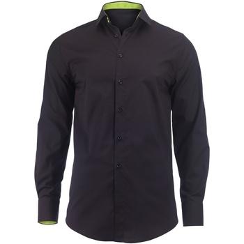 textil Hombre Camisas manga larga Alexandra Hospitality Negro/Lima