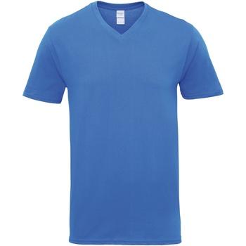 textil Hombre Camisetas manga corta Gildan GD016 Azul