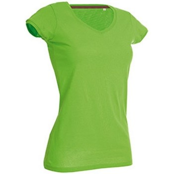 textil Mujer Camisetas manga corta Stedman Stars Megan Verde Flash