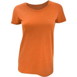 textil Mujer Camisetas manga corta Bella + Canvas BE8413 Naranja  Jaspeado