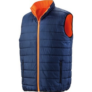textil Hombre Plumas Result R332X Naranja Fluorescente/Azul Marino