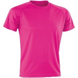 textil Camisetas manga corta Spiro Aircool Rosa Flo