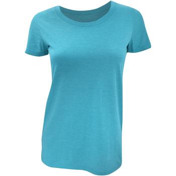 textil Mujer Camisetas manga corta Bella + Canvas BE8413 Aqua Jaspeado