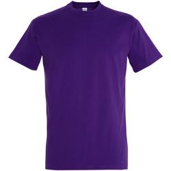 textil Hombre Camisetas manga corta Sols 11500 Purpura Oscuro